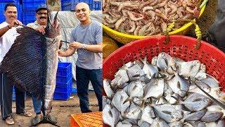 Mangalore's LARGEST SEAFOOD MARKET|Incredible Variety Of Seafood|Mangalore BUNDER
