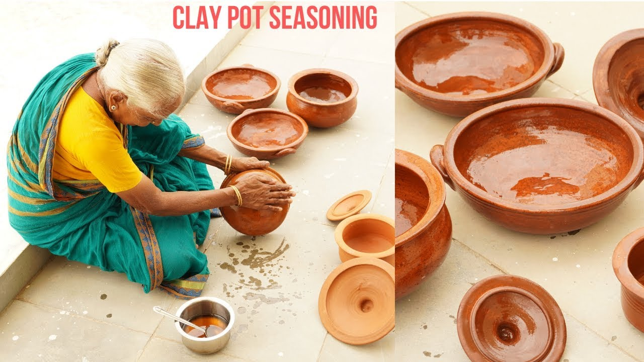 clay pot seasoning CLAY POT SEASONING BY 2 YEARS OLD GRANDMA  How to use Mudpots for the  First Time