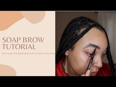 FLUFFY SOAP BROW TUTORIAL - JASMNMARIE