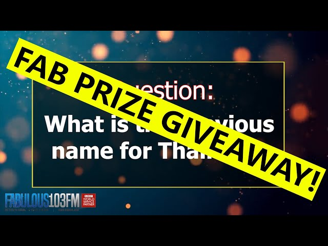 FABULOUS 103FM PRIZE GIVEAWAY  (19 October 2021)