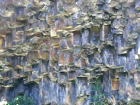 Columnar Basalt Iron Oxide II Reflecting Sunlight.avi