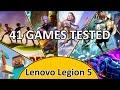 Lenovo Legion 5 (2020) - 41 Games Tested