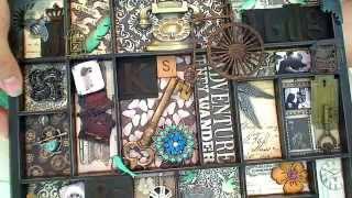 Vintage Grunge Configuration Box Vr To Ishacraftyside's 1 Yr Yt Anniv Challenge