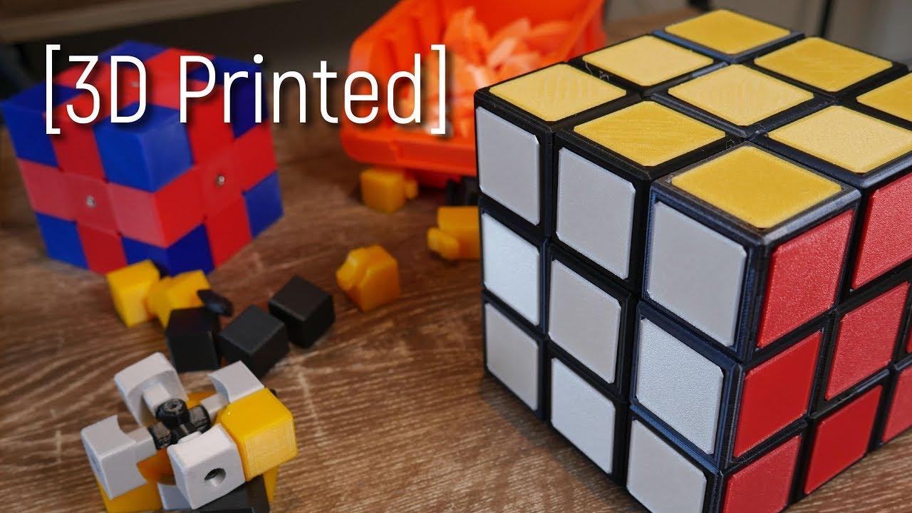 cbefea3d114a7 The Rubik's Cube Mechanism - 3D Printed!