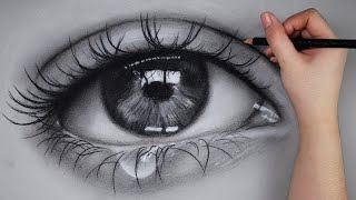 ASMR Eye Charcoal Drawing No Talking | Philippines