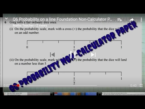 Q6 Probability on a line Foundation Non-Calculator Paper Sample Assessment Material New 9-1 GCSE