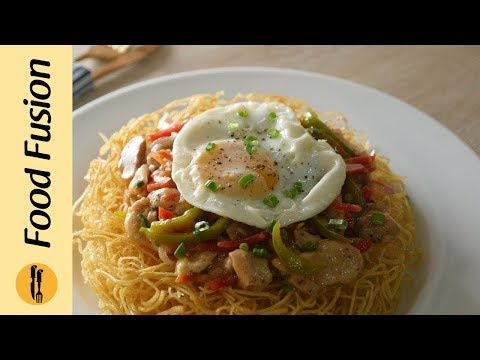 Chopsuey with Crispy Fried Noodles Recipe  Food Fusion