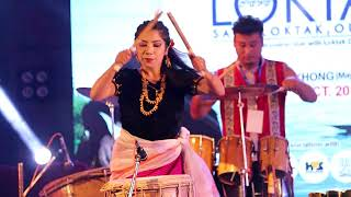 DANCING DRUMS BY RHYTHM OF MANIPUR || 13th RANBIR THOUNA LIVE ON STAGE || SAVE LOKTAK OUR LIFE