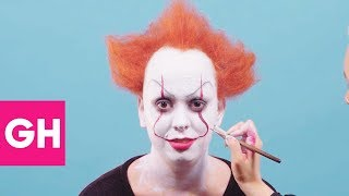 Terrifying Pennywise the Clown Halloween Makeup Transformation | GH