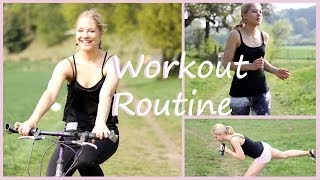 Fitnessroutine: Workout im Sommer