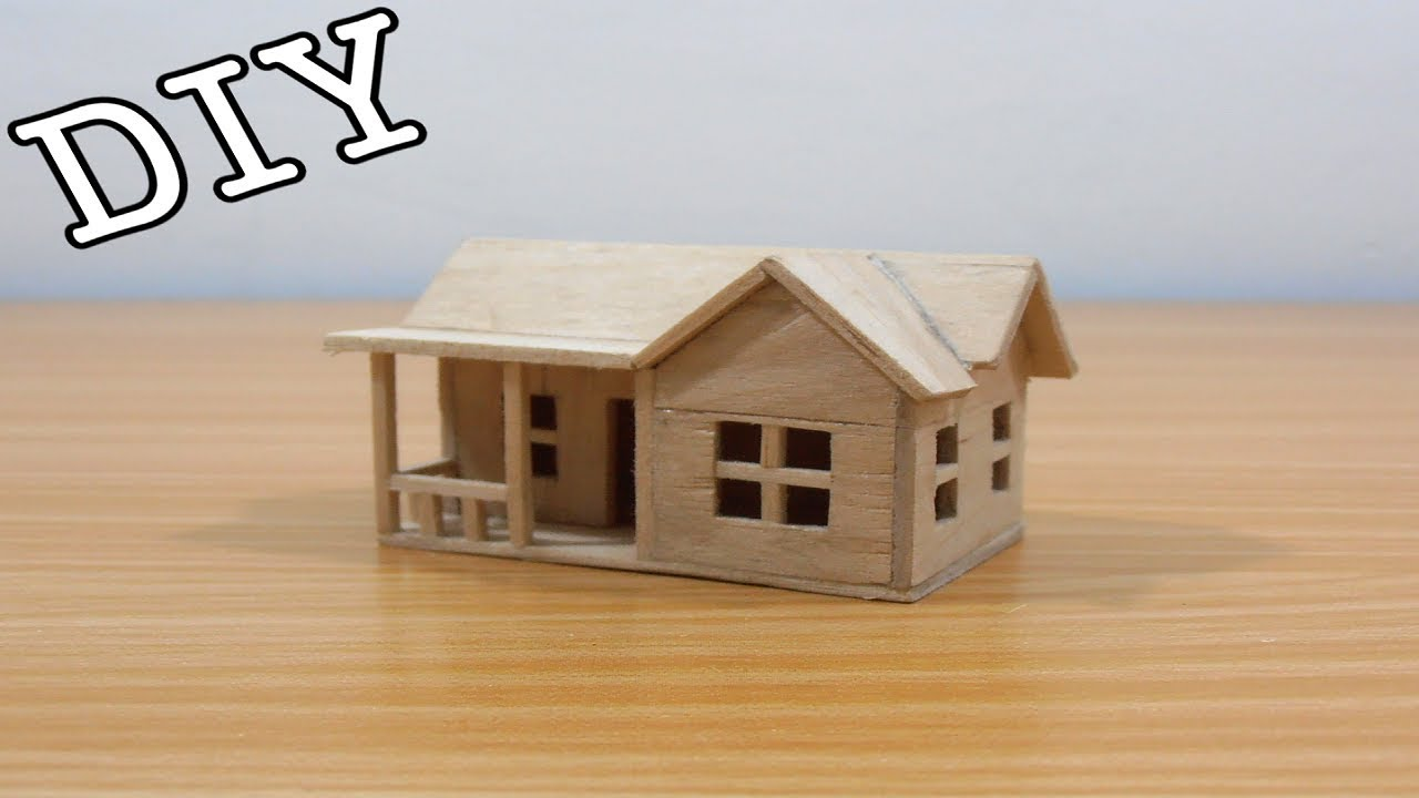 DIY Miniature House #21 (Popsicle Sticks)