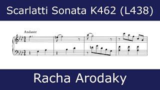 Domenico Scarlatti - Sonata in F minor K462 (Racha Arodaky)