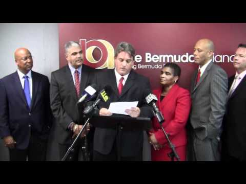 OBA Announce Candidates Barrett Gordon-Pamplin Bermuda February 9 2012