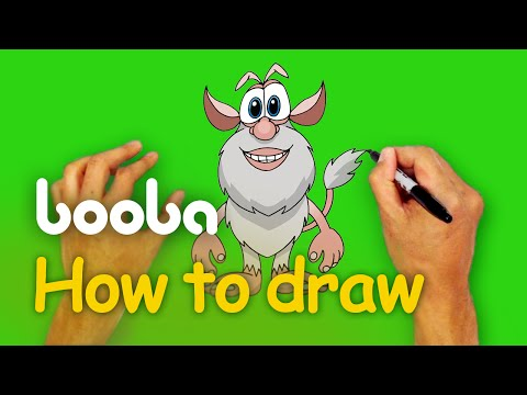 How to draw Booba? - Step-by-Step Art Lesson