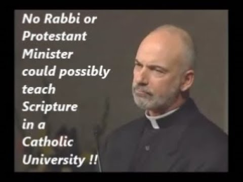 STOP USING NON-CATHOLICS TO TEACH SACRED SCRIPTURE !