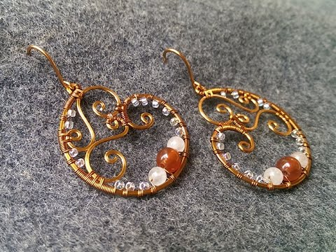 lan anh handmade copper wire earring handmade jewelry idea 155 770