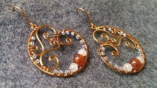copper wire earring - handmade jewelry idea 155