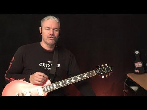Rock N Roll Chord Licks ( Timing & Crazy Twang ) - Guitar Lesson