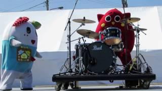 にゃんごすたー ふにゃっしー ふなごろー / アンパンマンのマーチ(20170311 今治ABC祭)