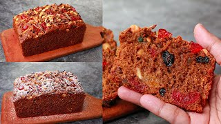 Whole Wheat Jaggery Christmas Plum Cake | Eggless & Without Oven | Yummy