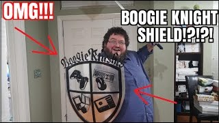 A FAN SENT ME A 'BOOGIE KNIGHTS' SHIELD - A PYRO DESIGN!