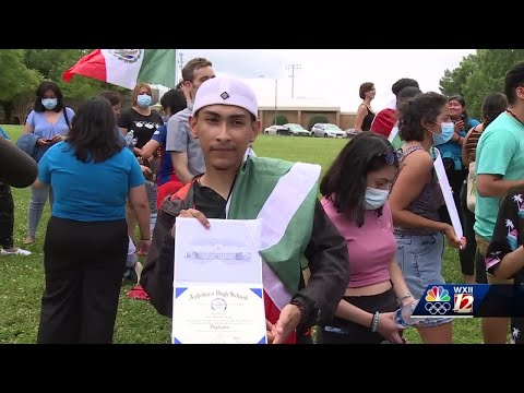Asheboro graduate, who was initially denied diploma for wearing Mexican flag, receives diploma an...