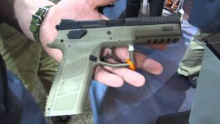 cz p 09 full size polymer 9mm semi auto pistol at shot show 2014