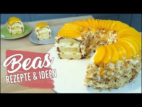 Pfirsichkuchen Im Kranz Rezept | Lecker Kuchen Backen Mit Pfirsichsahne | Kranzkuchen