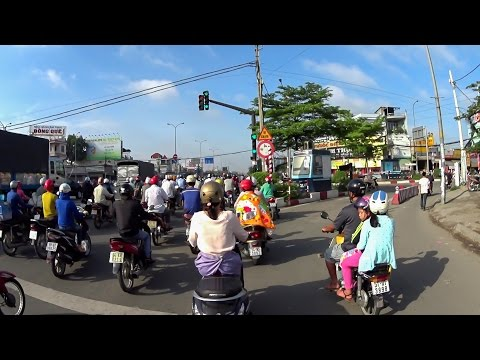 Traffic in Ho Chi Minh City, Vietnam (P2) | Vietnam Discovery Travel | Sony HDR-AS50