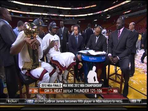 June 21, 2012-NBATV-2012 NBA Finals Miami Heat Championship LeBron, Wade Post Game Interview(Vs OKC)