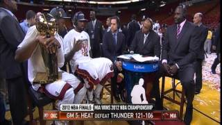 June 21, 2012-NBATV-2012 NBA Finals Miami Heat Championship LeBron, Wade Post Game Interview(Vs OKC)