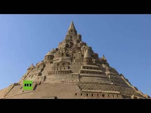 Un castillo de arena gigante logra el récord Guinness en Alemania
