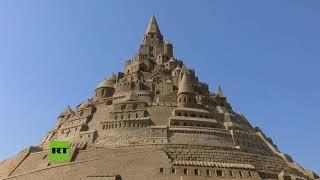 Castillo de arena gigante consigue el récord Guinness en Alemania