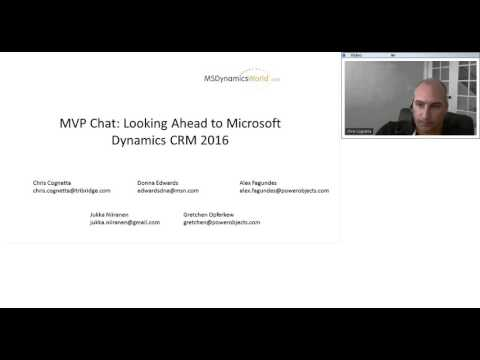 MVP Chat: Looking Ahead to Microsoft Dynamics CRM 2016