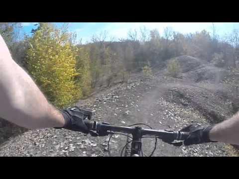 Mountain Biking at Banner Lakes, Iowa