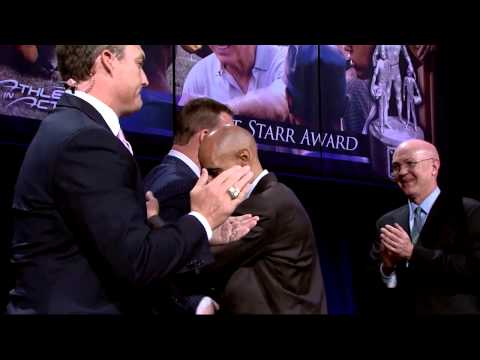Game On: AIA Bart Starr Award presented to Peyton Manning by Tony Dungy