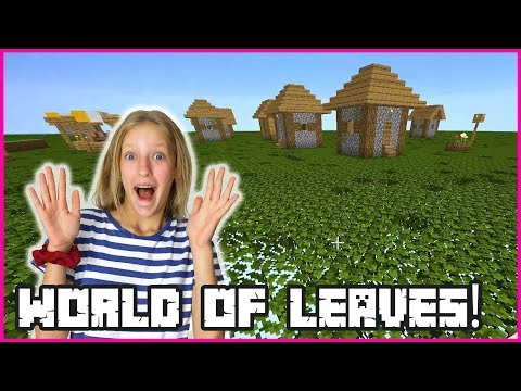 MY WORLD OF LEAVES!!! SURVIVING ON LEAVES!!!