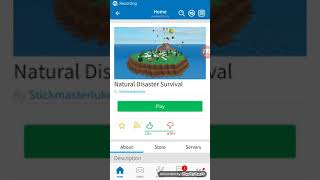 Natural disaster survival in Roblox!! Fun W/ lukejigamer052
