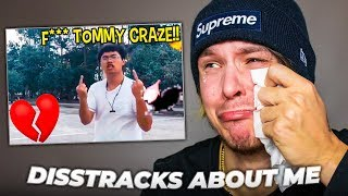 REACTING TO DISS TRACKS ABOUT ME *I Cried*