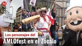Los personajes del AMLOfest en el Zócalo