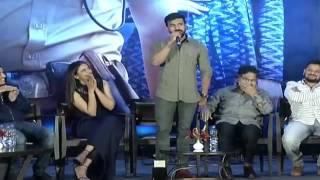 Ramcharan trolls Rakulpreet pareshanura song dhruva success meet