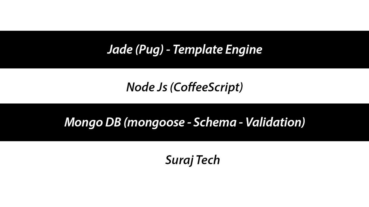 Jade pug template engine node js mongo db mongoose schema jade pug template engine node js mongo db mongoose schema validation coffeescript pronofoot35fo Images