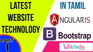 latest website technology in angular js in tamil and bootstrap css html tutorial for beginners