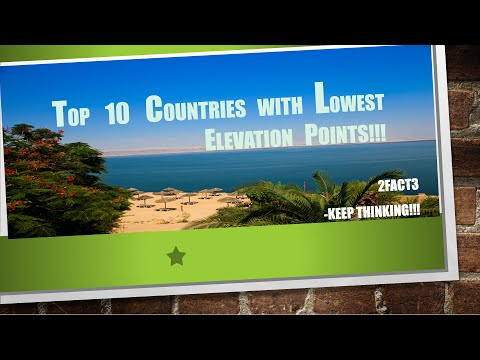 Top 10 Countries with Lowest Elevation Points