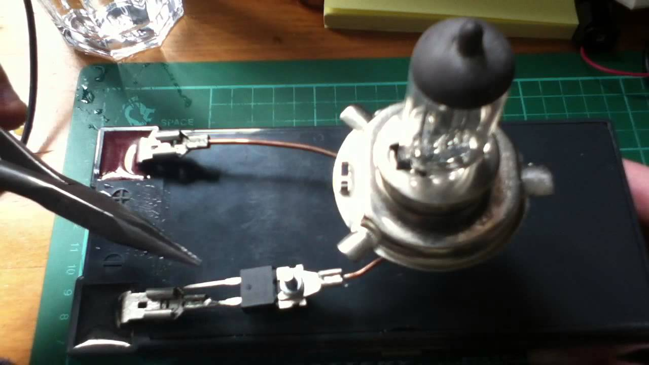 Turning on H4 Car Headlight Bulb with IRF3205 MOSFET  YouTube