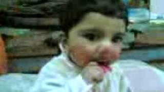 sohiab is eating loloi pop.3gp