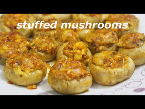 STUFFED MUSHROOMS/RECIPE IN HINDI/veg Starter Recipe/Easy And Tasty.