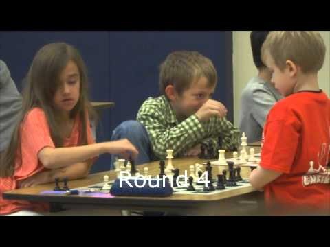 4-year-old Toby playing in a chess tournament