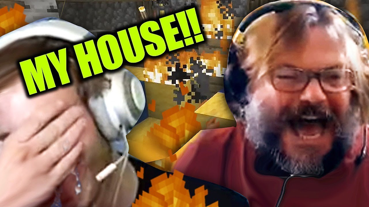 Jack Black BURNED down my Minecraft House!! image