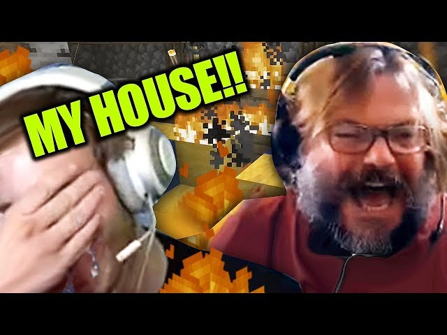 Jack Black BURNED down my Minecraft House!!